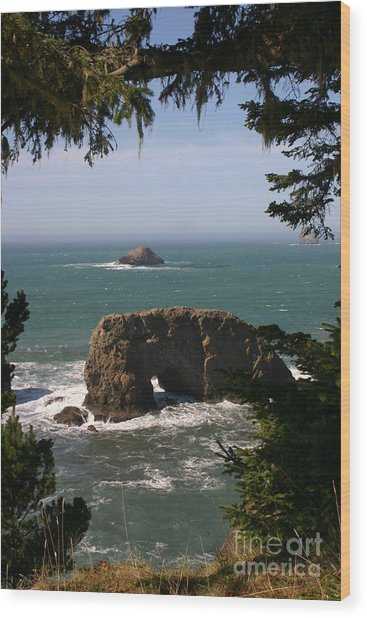 Arch Rock View Wood Print