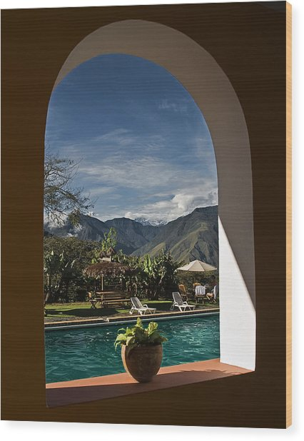 Arch View Wood Print