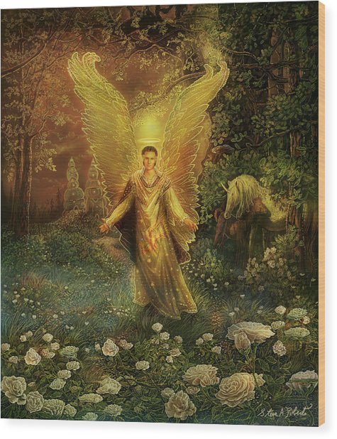 Archangel Azrael Wood Print