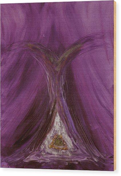 Archangel Metatron Wood Print by Emerald GreenForest