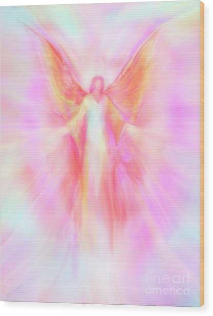 Archangel Metatron Reaching Out In Compassion Wood Print