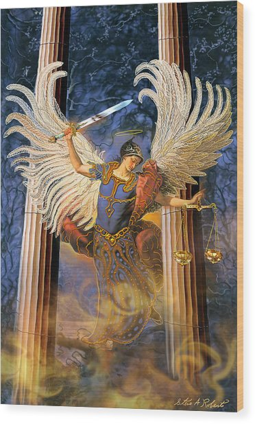 Archangel Raguel Wood Print