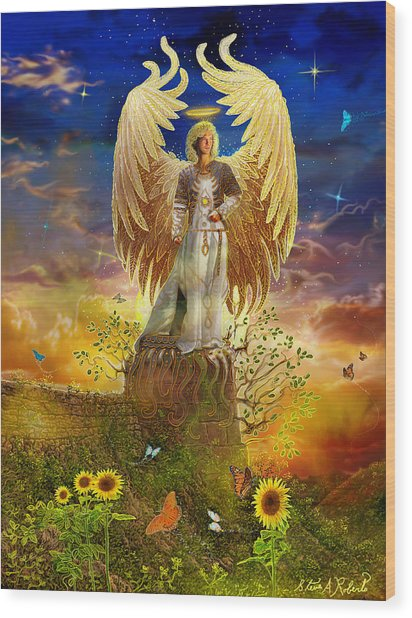 Archangel Uriel Wood Print