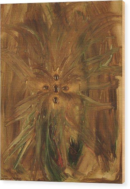 Archangel Zadekial Wood Print by Emerald GreenForest