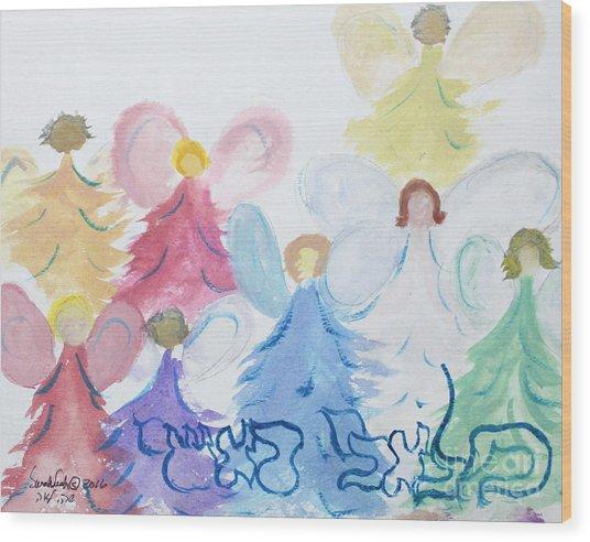 Archangels    Malchei Roshei Wood Print
