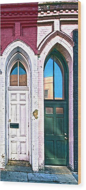 050 - Door One And Door Too Wood Print