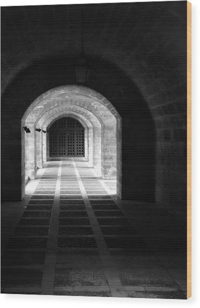 Arched Hallway In Palma Wood Print