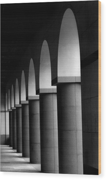 Arches And Columns 1 Wood Print by John Gusky