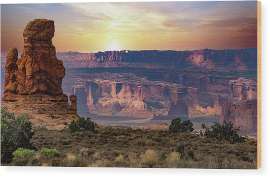 Arches National Park Canyon Wood Print
