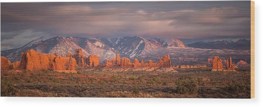 Arches National Park Pano Wood Print