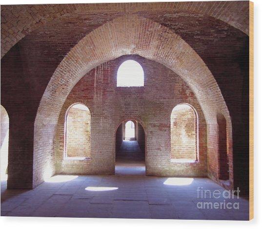 Arches Of Sunshine Wood Print