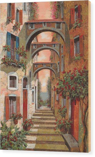 Archetti In Rosso Wood Print
