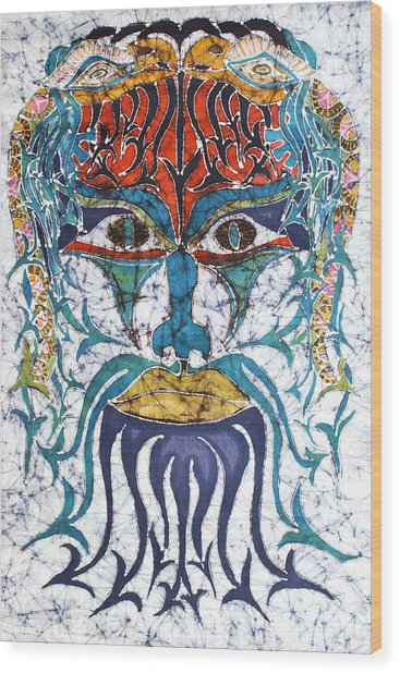 Archetypal Mask Wood Print
