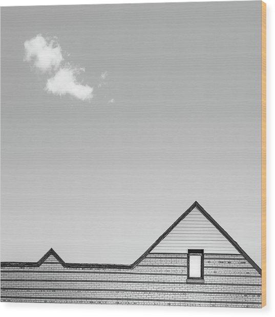 Architectural Ekg Wood Print