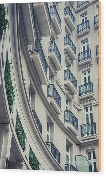 Architecture Background  Wood Print