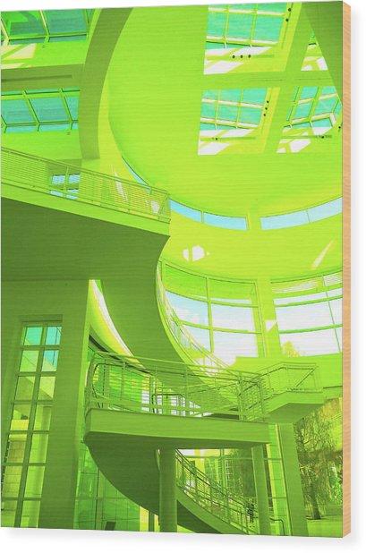 Green Splash Architecture Wood Print