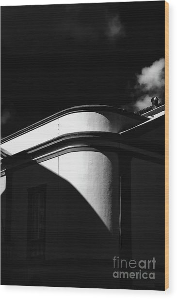 Architecture Shadow Light Game Wood Print