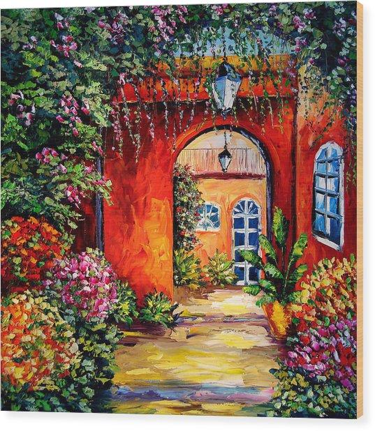 Archway Garden Wood Print by Beata Sasik