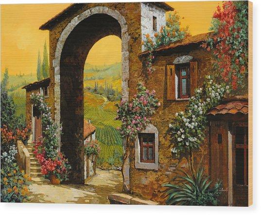 Arco Di Paese Wood Print