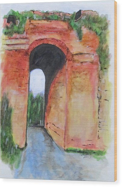 Arco Felice, Revisited Wood Print