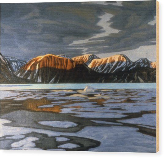 Arctic Ice Breakup Wood Print by Paul Gauthier