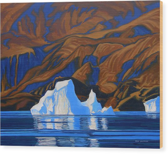 Arctic Tapestry Wood Print by Paul Gauthier