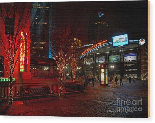 D66l-4 Arena District Photo Wood Print
