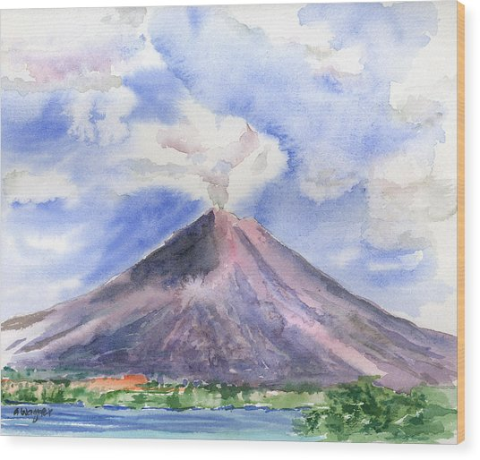 Arenal Volcano Costa Rica Wood Print