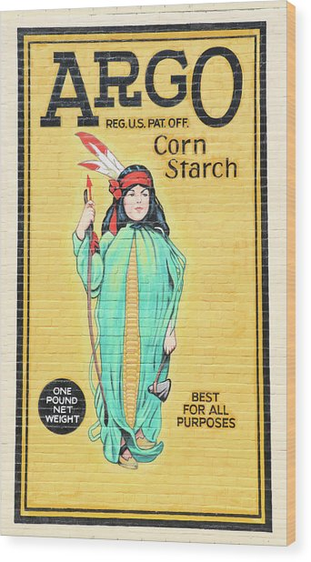 Argo Corn Starch Wall Advertising Wood Print