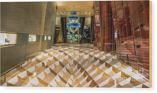 Aria High Limit Lounge Entrance Wood Print