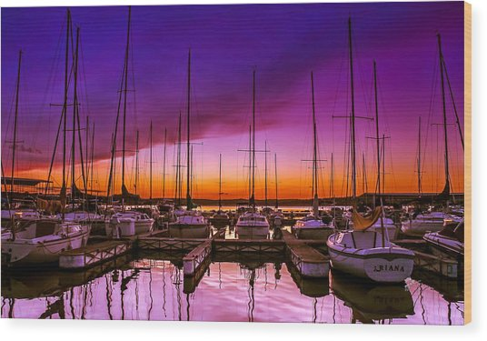 Ariana's Sunset Wood Print