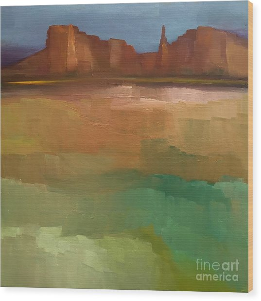 Arizona Calm Wood Print