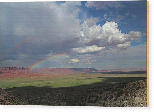 Arizona Double Rainbow Wood Print