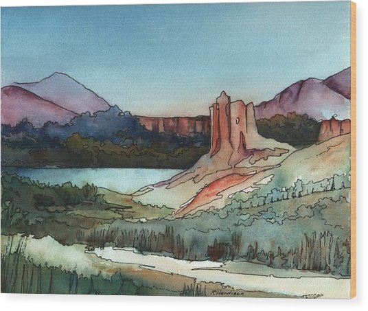 Arizona Hills Wood Print by Robynne Hardison