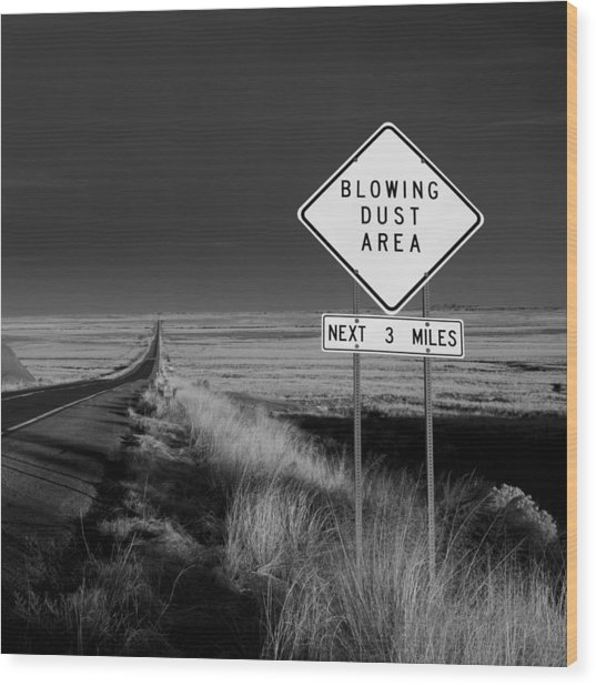 Arizona Road Wood Print