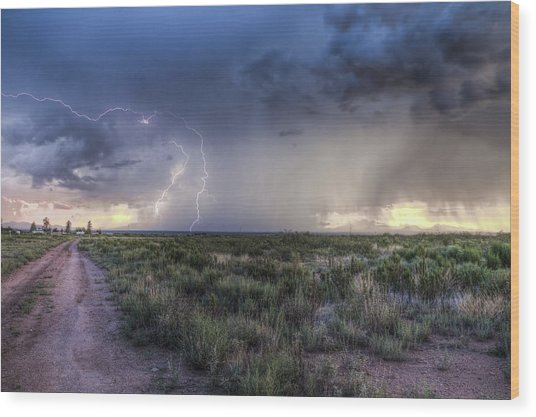 Arizona Storm Wood Print