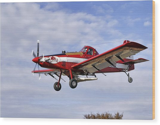 Arkansas Razorbacks Crop Duster Wood Print