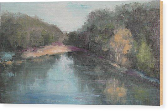 Arkansas River Scene Wood Print
