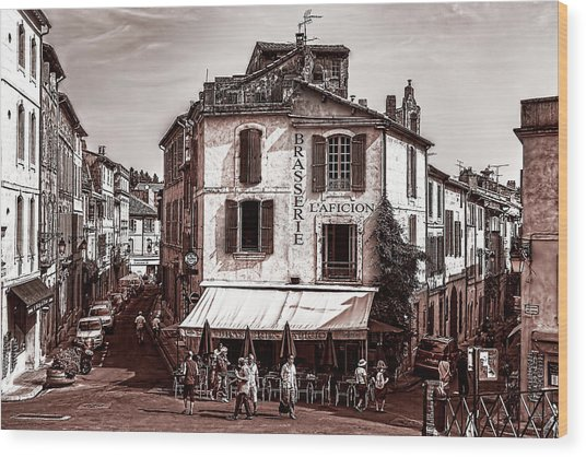 Arles, France, In Sepia Wood Print