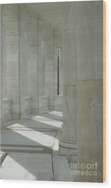 Arlington Memorial Amphitheater Hall Wood Print