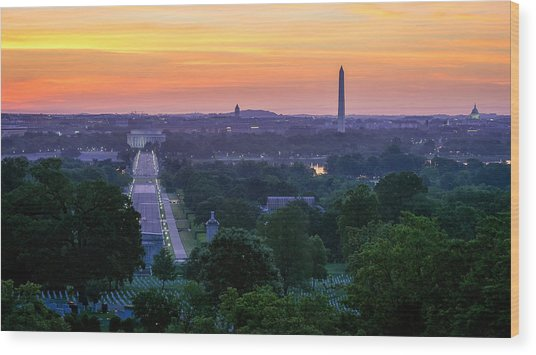 Arlington Sunrise Wood Print by Michael Donahue