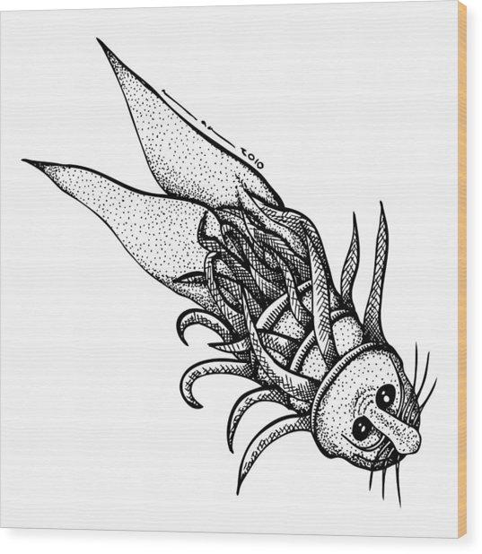 Arm Fish Wood Print by Karl Addison