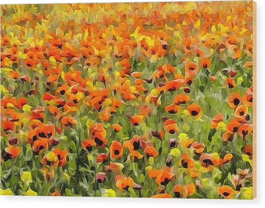 Armenia Flowers In Spring Wood Print by Dennis Cox