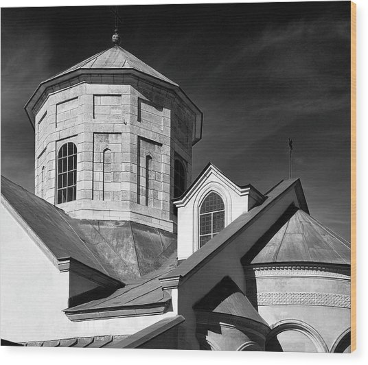 Wood Print featuring the photograph Armenian Church. Lviv, 2011. by Andriy Maykovskyi