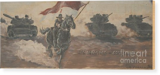Armored Cavalry Wood Print by Unknown