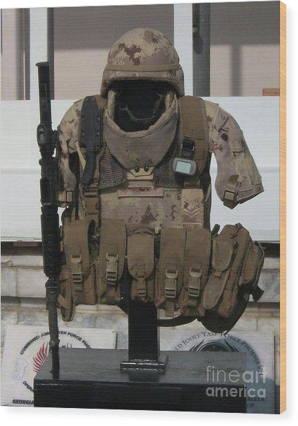 Army Gear Wood Print