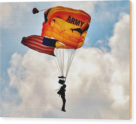 Army Paratrooper 2 Wood Print