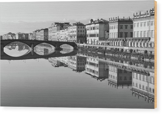 Arno Reflections 1 Wood Print