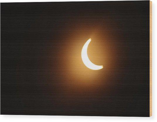 Around Peak Time Eclipse Wood Print