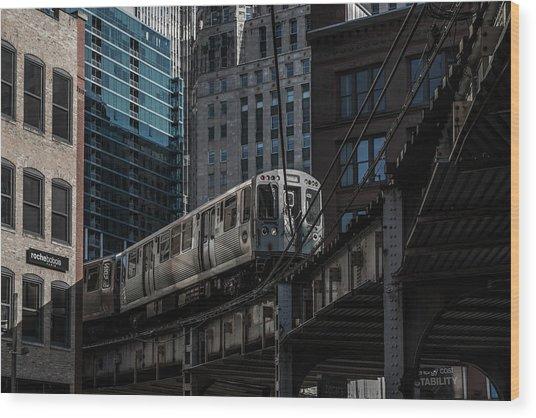 Around The Corner, Chicago Wood Print